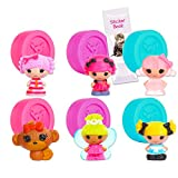 MGA Entertainment Lalaloopsy Blind Bags Party Favors ~ Bundle Includes 6 Lalaloopsy Tinies Figures Mystery Packs, Series 6, with Bonus Stickers (Lalaloopsy Party Supplies)
