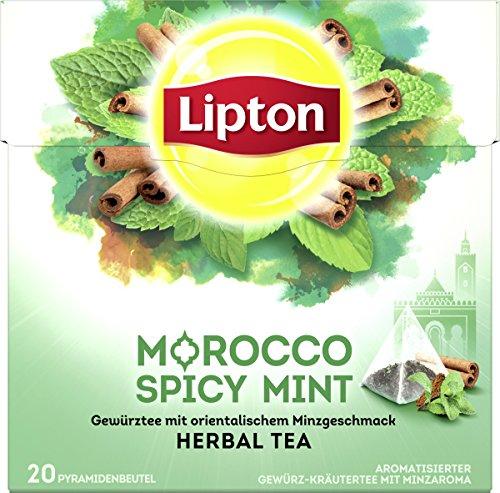 Lipton Kräutertee (für einen orientalischen Teegenuss Marokkanische Minze aus nachhaltigem Anbau) 20 Pyramidenbeutel 1 Packung