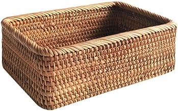 SCDZS Ręcznie tkany prostokątny rattanowy kosz wiklinowy owoc herbata przekąska chleb piknik pudełko do przechowywania kos...