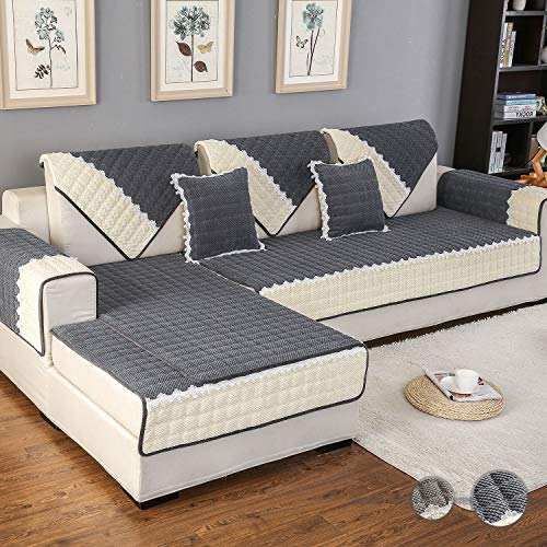 OstepDecor Multi-Size Rectangular Corduroy Quilted Furniture Protector
