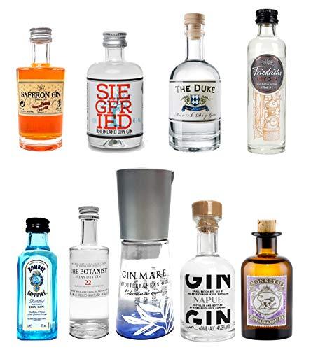 Mini Gin Probierset - 9 verschiedene Gin Sorten - NEU