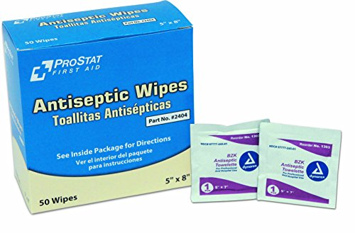 ProStat First Aid 2404 Antiseptic Wipes (Pack of 50)