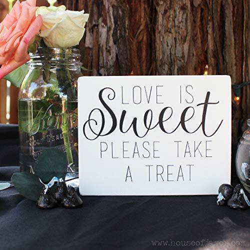 Ced454sy Gift Snoepjes Tafelbord Liefde is Zoete Dessert Tafel Tekenen Bruiloft Tekenen Favor Tafeldecoratie Receptie Decor Rustieke Bruiloft 5 x 7