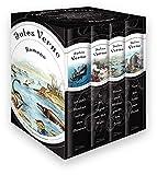 Jules Verne - Romane (Vier Bände im Schuber): 20.000 Meilen unter den Meeren - In 80 Tagen um die Welt - Reise zum Mittelpunkt der Erde - Von der Erde zum Mond - Jules Verne