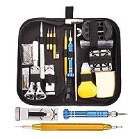 ⌚ [Allmächtiger Assistent]: Super umfassendes Zubehör für 147PCS-Uhrenwerkzeuge, Präzisionsschraubenzieher, Pinzetten, Gehäuseöffner, Armbandfederstifte, Federstangenwerkzeug usw. kann definitiv alle Ihre Bedürfnisse für die Reparatur von Uhren erfül...
