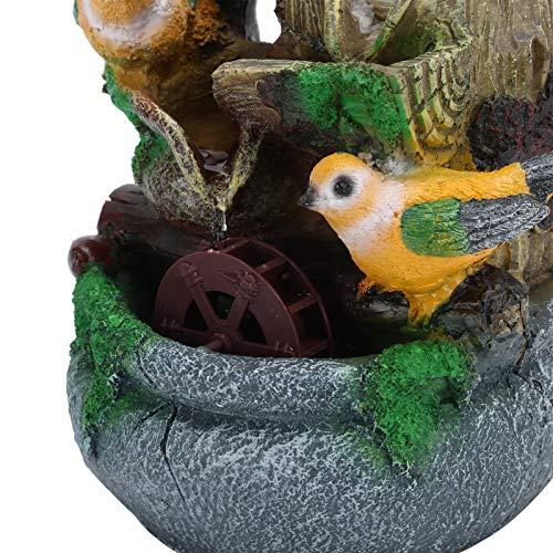 Jopwkuin Fuente de Mesa de rocalla pequeña, Material de Resina Resistente y Duradero, Regalos Decorativos prácticos para el Dormitorio de la Oficina
