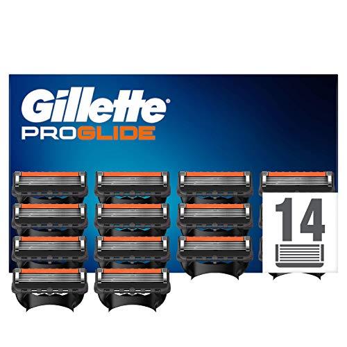 Gillette Fusion Proglide Lames de Rasoir Homme, Pack de 14 Lames de Recharges