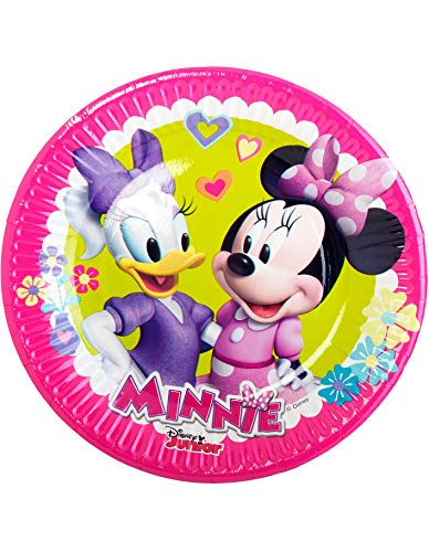 Party Fiesta 8 Platos Minnie Mouse Rosa 20 Cm