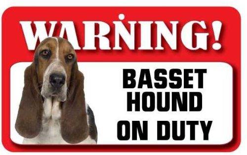 Basset Hound signe pour chien – en carte lustrée