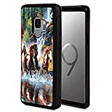 Galaxy J2 Pro Case, J2 2018 Case,Vobber Shockproof Architecture Hard Shell TPU Protective Case Cover for Samsung Galaxy J2 Pro 2018,Running Horses