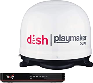 Winegard PL8000R Playmaker White Satellite Antenna with Dish Wally HD Receiver