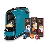 Tchibo Cafissimo Pure Kapselmaschine (für Kaffee, Espresso, Caffé Crema und Tee) (inkl. 30 Kapseln) (Petrol)