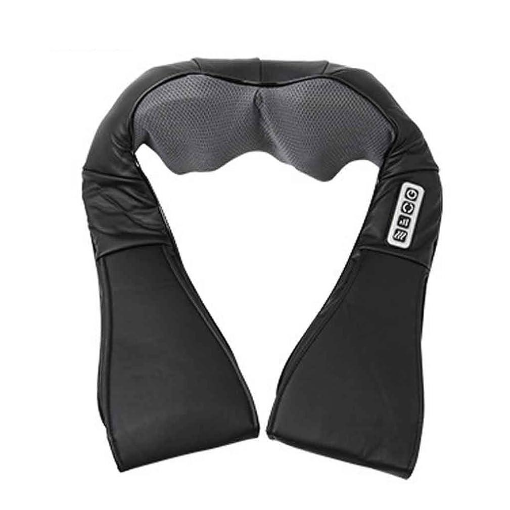 ダブル担当者勝利した指圧指圧ネック、肩、背中、脚、および足のマッサージ枕、黒
