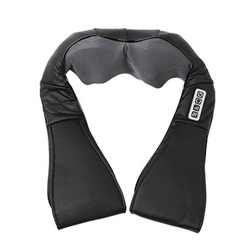 予定呼吸フォーラム指圧指圧ネック、肩、背中、脚、および足のマッサージ枕、黒