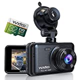 Dash Cam for Cars, YUNDOO Full HD 1080P 3 inches IPS Screen Car Camera, Contains 32GB SD Card, with Wide-Angle Lens, Loop Recording, G-Sensor, Parking Monitoring