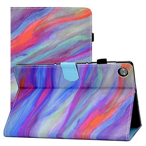 Quanerba Compatibile per Cover Custodia Tablet Lenovo Tab M10 FHD Plus 10.3 (TB-X606F  TB-X606X 2020 Rilasciato) Guscio Supporto Protettiva Tablet Cover in Pelle Flip PU Case (Marmo Colori)
