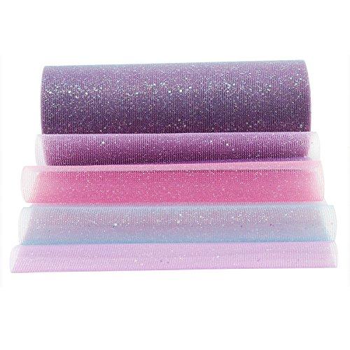PsmGoods Arcobaleno Tulle Roll Spool Gradiente Colore Soft Netting Tutu Gonna Festa di nozze Regalo Bow Compleanno Wraping Craft Decorazioni di nozze