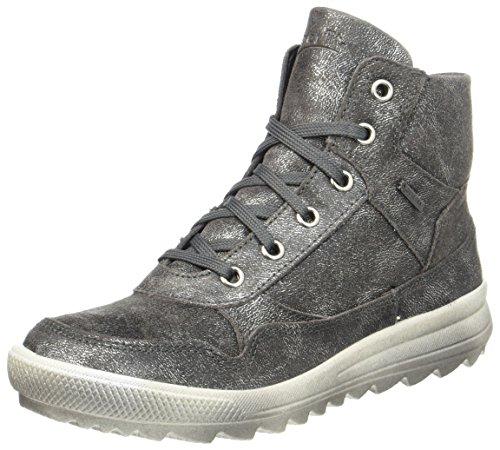 Superfit Damen LINA Hohe Sneaker, Silber (Silber), 38 EU