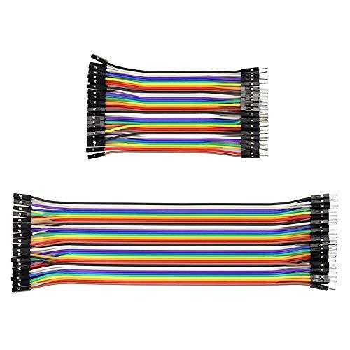 YXPCARS Jumper Wire Kabel Kit, 80pin 10/20cm Male to Female Drahtbrücken Steckbrücken Steckbrett Kabel für Arduino und Raspberry Pi