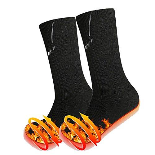 MJGISR6 Fußwärmer USB Beheizte Socken mit 3 Heizstufen, 38-70 □ Casual Socken for Outdoor Wandern Jagd Camping...