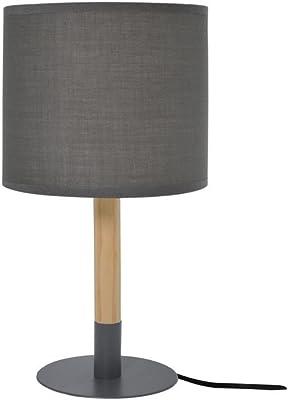 Zons Lampe À Poser Ø14xH34cm 3 Couleurs Gris