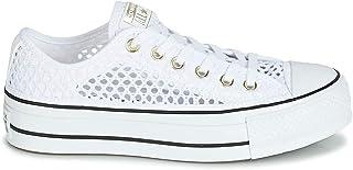 CTAS OX White/Black 564873C, Zapatillas con Plataforma para Mujer