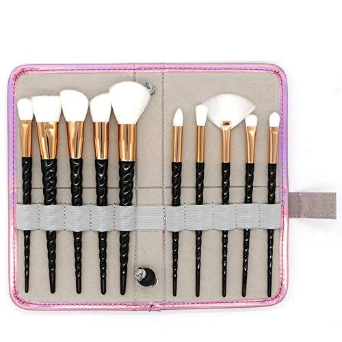 GBY Lot de 10 pinceaux de maquillage professionnels, Fibre synthétique., 06, Free