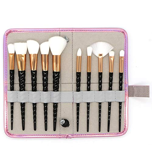 GBY Lot de 10 pinceaux de maquillage professionnels, Fibre synthétique., 06, Free