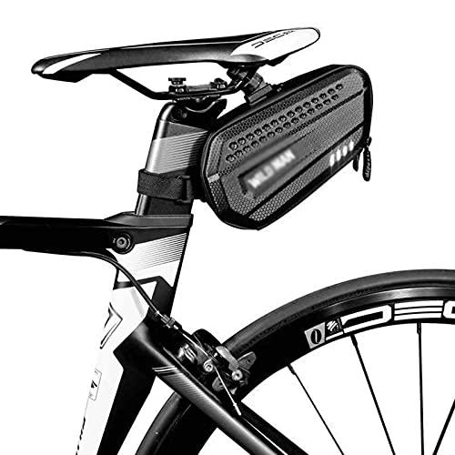 FREEDOL Bolsa Asiento Bicicleta, 1,2 L Bolsa Almacenamiento Sillín Bicicleta Montaña Cuña Bolsa Sillín Eva Andar En Bicicleta, Herramientas Reparación Bicicletas Bolsillos,Negro