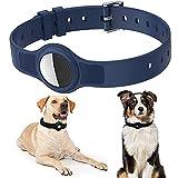 Collar de Perro, Collar de Perro para Airtags, Collar de Gato, Collar de Perro para Airtags GPS Tracking Perro Gato Funda Protectora de Silicona para Airtags Longitud Ajustable 8.2 '- 15.5'