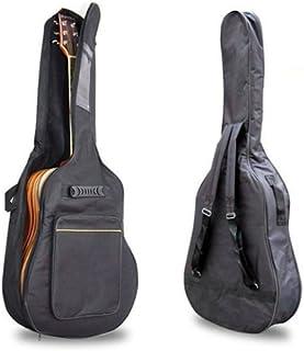 حافظة ظهر ناعمة من Sirwolf سوداء 41 بوصة عليها جيتار اكوستيك أحزمة مزدوجة مبطنة على شكل جيتار