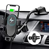 Mpow Car Wireless Charger, Qi Car Charger 10W/7.5W/5W, Auto-Clamping Wireless Car Charger Air Vent Dashboard Car Mount, Compatible/w iPhone 11 Series/X/XR/8, Galaxy Note10/S10/S20 Series