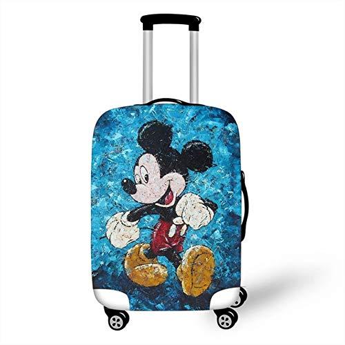 ZHIRUI - Funda protectora para maleta de viaje con estampado de Minnie Mickey y chaqueta a prueba de polvo y licra elástica
