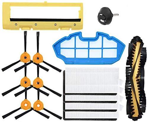 QIBIN Recambios de aspiradora 14 piezas Accesorios Principales Filtros HEPA Cepillos Laterales para Ecovacs Deebot N79 N79S Robot Aspiradora