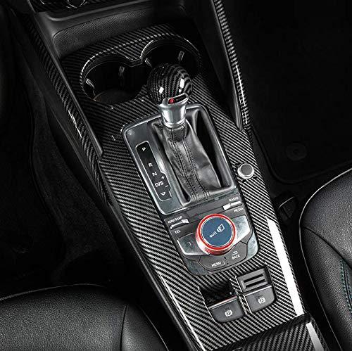 HDCF Mittelkonsole Schaltpaneel Rahmen Dekoration Abdeckung Trim ABS Carbon Style Für A3 8V 2014-18