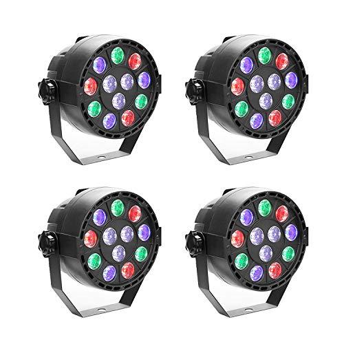 4 Stücke 15W DMX Par Licht RGBW LED DJ Lichteffekt Disco Beleuchtung 8 Kanal Wechselstrom 100-240V für Parteierscheinen KTV DJ Hochzeit