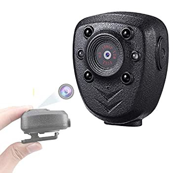 Mini Body Wear Camera Pocket Wireless Small Police Video Recorder Indoor/Outdoor Wearable Mounted Camera Tiny HD Cop Cam DVR ,1080P  32G Memory,Record Video & Audio ,Night Vision Camcorder