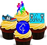 Made4You 50th Park Run - Decoración Comestible para Cupcakes