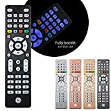 GE Backlit Universal Remote Control for Samsung, Vizio, LG, Sony, Sharp, Roku, Apple