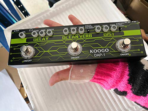 Koogo Guitar Multi Effect Pedal Delay Reverb Distortion 3-in-1 Effects Pedals For Electric Guitar …