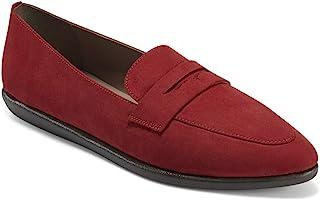 حذاء بدون كعب نسائي من Aerosoles مصنوع من قماش أحمر، مقاس 11