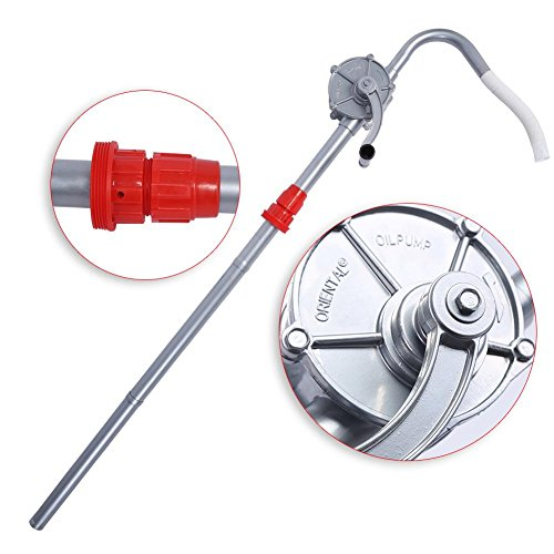 Tragbare rotierende Handpumpe aus Aluminiumlegierung, Fasspumpe 124 cm 70 U/min zum Pumpen von Heizöl, Benzin und vielen anderen Ölen
