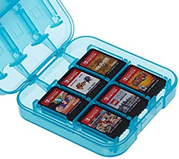 Amazon Basics Game Storage Case for 24 Nintendo Switch Games - 3.4 x 3.4 x 1 Inches Blue