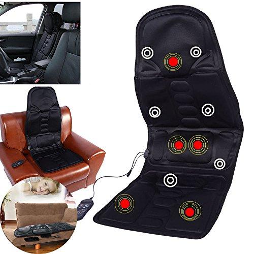 Zjchao Massage Sitzauflage Mit 5 Massagezonen, Massageauflage, Massagesitzauflage Massagematte Sitzheizung Shiatsu Sitzheizung Für Haus Büro Auto (1 X Adapter 1 X Kfz Ladegerät)