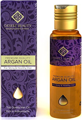 Premium Argan Oil for Hair Treatment, Conditioning & Hair Loss Prevention, Provides Anti-Aging...