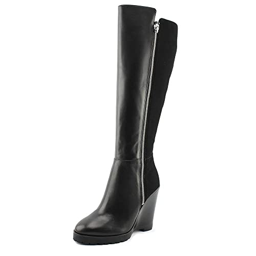 2e4a776ea01d Michael Michael Kors Womens Clara Leather Closed Toe Knee High Fashion Boots