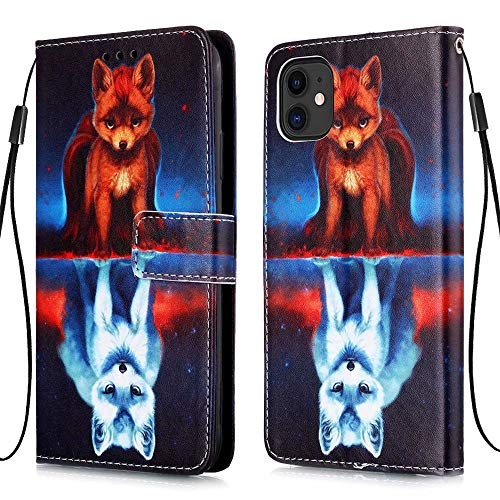 MUTOUREN Funda compatible con Samsung Galazy A20E Wallet Case con protector de pantalla gratuito, piel sintética, soporte para tarjetas, Fox