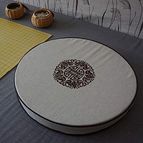 Ronda Lino Silla De Cojín con Cremallera,futón Transpirable Jacquard Cojín De La Silla Simple Alfombra De Ventana De Tatami De Cuatro Estaciones para Yoga De Meditación-i 50x50x