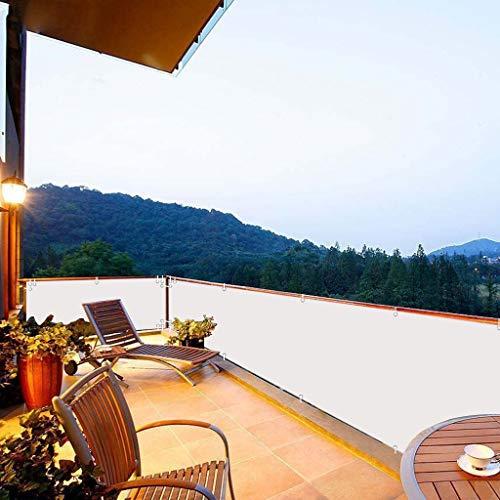 Aiyaoo Balcon Proteccion 90x600cm Protector Visual Jardin Toldo Lateral con Cuerda y...