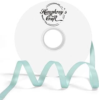 Humphrey's Craft 3/8-inch Double Face Solid Satin Ribbon 100% Polyester Ribbon Roll-50 Yard (Tiffany Blue)